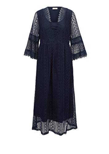 TRIANGLE Damen Kleid aus Spitze Navy 48