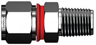 Superlok SMCI - 316 Stainless Steel Tube Compression Male Connector - Built in Gap Gauge - 1/4