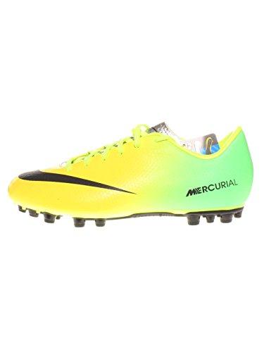 Nike Mercurial Victory IV AG Fußballschuhe für Kinder- Gr. EU 38.5, vibrant yellow/black-neo lime