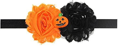 XinYiC Diadema de Halloween para bebé niña negro y blanco calabaza Headwear accesorio