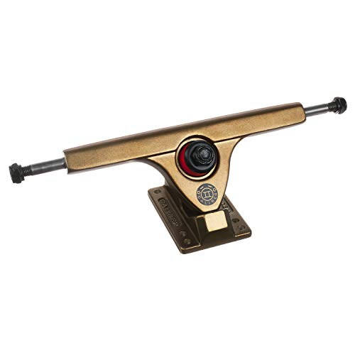 Caliber Trucks Cal II 50° RKP Longboard Trucks - Set von 2, Unisex, Gangster Gold, w/Bones Reds Bearings