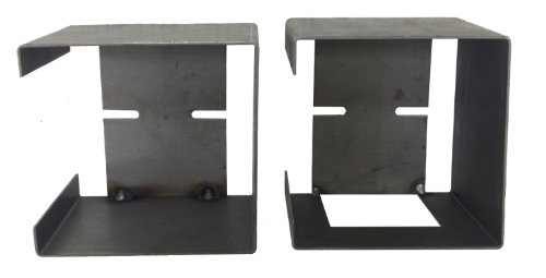 Set of Steel Trailer Square Tail Light Mounting Boxes - 24017/24018