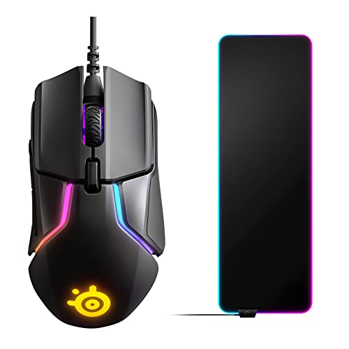 SteelSeries Rival 600 (Gaming Maus) + SteelSeries QcK Prism Cloth XL (Gaming Mauspad)