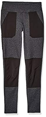Carhartt Women's Force Stretch Utility Legging (Regular and Plus Sizes), Black Heather, Large