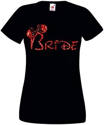 Camiseta de Novia con Orejas de Minnie Mouse para Novia
