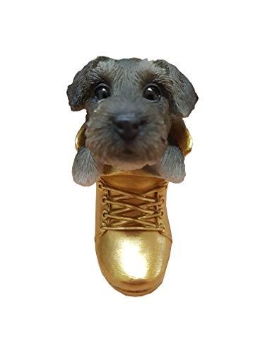 Levendige kunst - Hangende huisdieren - Ophangende gouden laarzen Schnauzer Decoratie (HOR-B16-G)