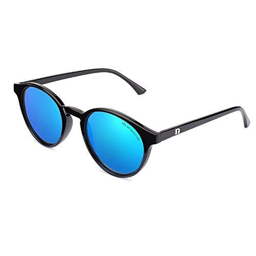 CLANDESTINE Round Black Blue - Occhiali da sole Nylon HD uomo & donna