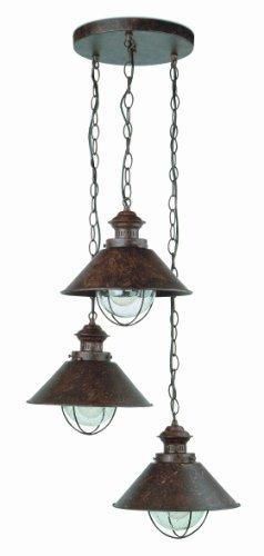 Faro Barcelona 71112 NÁUTICA Lampe suspension rouille h.1000mm