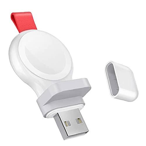 FeelMeet Cargador USB del Reloj Reloj Inteligente Cargador inalámbrico portátil inalámbrico de Carga rápida Compatible con Apple Blanco del Reloj