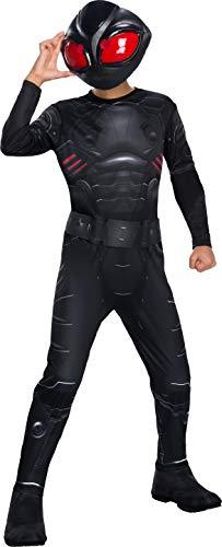 Rubies Disfraz Oficial de DC Aquaman The Movie, Manta Negra para niños, Talla Mediana de 5 a 8 años, Multicolor, Medium (641364-M)