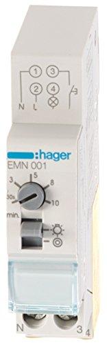 Hager HAGEMN001 EMN001 Treppenlichtzeitschalter VE 0,5-10Min, 230 V