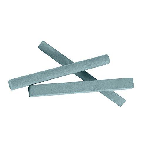 Schleifstein-Set, 320er-Körnung, 15 Stück/5 Sets, Siliziumkarbid-Schleifstein, quadratisch, Zylinder, Dreieck für Schnitzmesser, Jade, Metall