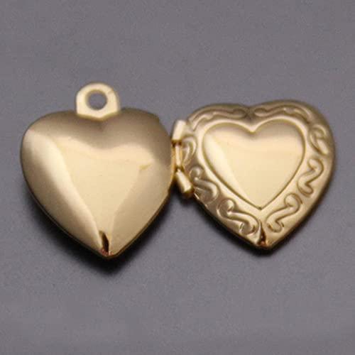 LCUK 1 Pieza de corazón pequeño Marco de Fotos Colgante Collar Amor corazón encantos medallón Flotante Collares Mujeres Hombres joyería Conmemorativa de Moda