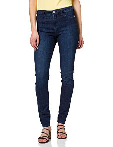 edc by ESPRIT Damen Jeggings Skinny Fit Jeans, 901/BLUE Dark WASH, 27/30