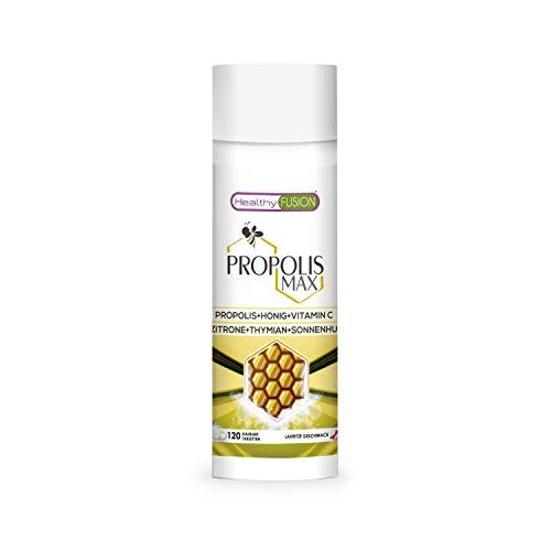 Propolis tabletten | Reines Propolis + Honig + Vitamin C + Thymian + Echinacea | Schützt die Abwehrkräfte | Starkes natürliches Antibiotikum, Antibakterium, Entzündungshemmend | 120 Einheiten