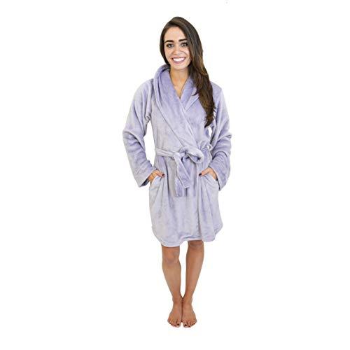 Women's Cherokee Women's Luxe Plush Robe XL Purple