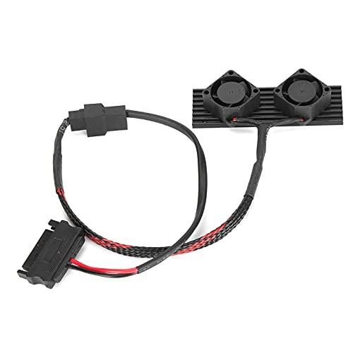 Disipador De Calor SSD, Fácil Operación Disipador De Calor De Doble Ventilador M.2 2280 para Todos Los Discos Duros De Estado Sólido M.2 2280