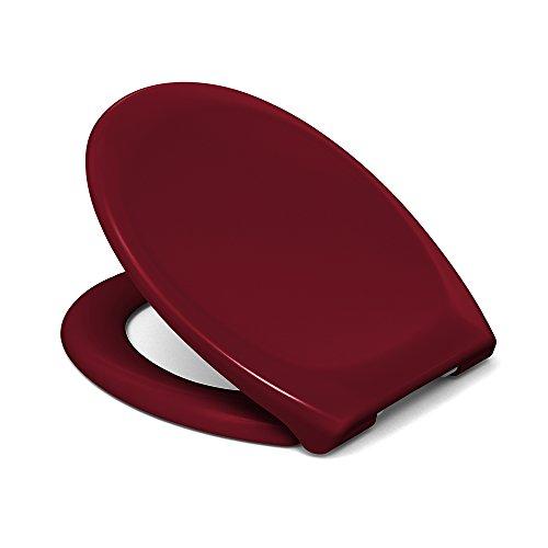 Sanifri 470011436 WC-Sitz (RAL 3003), Soft-Close/Take Off, rot (Vido)