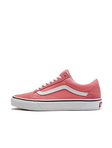 Vans Men's Old Skool Skate Shoe (8.5 Women / 7 Men, Strawberry Pink/True White)