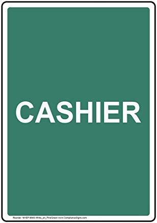 Wendana vertikales Kassenschild, lustiges Wanring Schild, Torschild, Hence Yard Schild, 20,3 x 30,5 cm mit englischem Text, weiß auf Kieferngrün