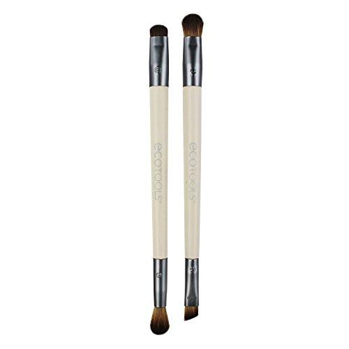 EcoTools Eye Enhancing Duo Brush Set, Define, Blend, & Smudge Eyeshadow & Liner