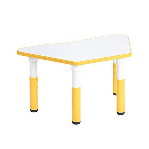 Kinderschreibtisch Kinder Polygonal Plastiktisch, Lift Trapez- Beistelltisch Lernen Tisch Schreibtisch Spielzeug Tisch, for Jungen und Mädchen Garten oder Innentisch für den Familienkindergarten
