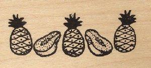 ハワイアン スタンプ Sサイズ ゴム製 パイナップル パパイヤ [並行輸入品]