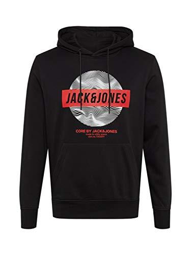 Jack & Jones Jcogeek Sweat Hood Fst Sudadera con Capucha, Negro, M para Hombre