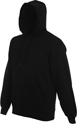 Fruit of the Loom Hooded Sweat Schwarz - M