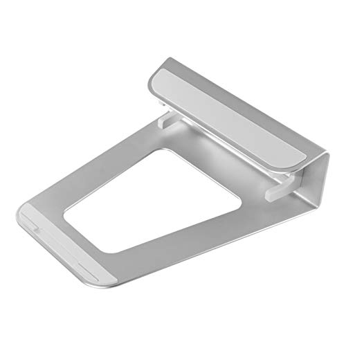BTMING 2 In 1 Function Aluminum Alloy Vertical Bracket Base/Ergonomic Laptop Stand Cooling for Macbook Air Pro (Color : Silver)