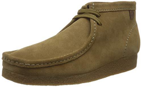 Clarks Shacre Wallabee Boot, Botas Modelo Chukka Hombre, Dark Sand Suede, 42.5 EU