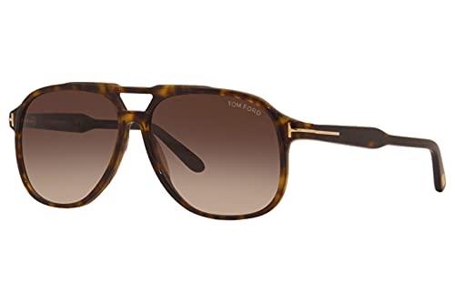 Tom Ford FT0753 52K Dark Havana FT0753 Pilot Sunglasses Lens Category 3 Size 62