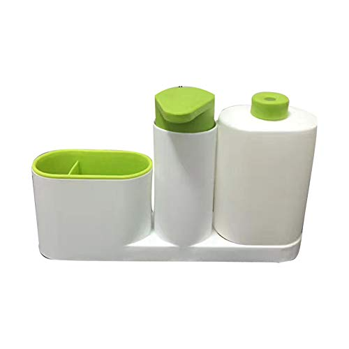 Chutoral 3 in 1 Spoelbak Tidy Set Plus Keukenorganizer Ingebouwde Zeepdispenser, Vaatwasser Vloeibare Ruimtebesparer Organiseer uw Keukenspoelruimte