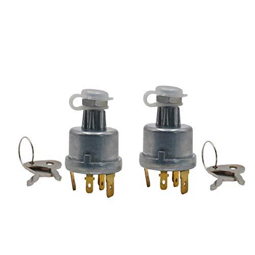 B Blesiya 2x Interruptor de Encendido con 4 Posiciones, 6 Terminales, 2 Llaves, Juego para Lucas 128SA