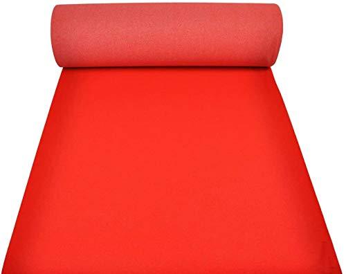 M.Service Srl Passatoia Rosso Natalizia e per Eventi - Altezza 1 Metro - Tappeto Red Carpet per Le tue Cerimonie (Rosso Vivo Rotolo da 25 Metri)