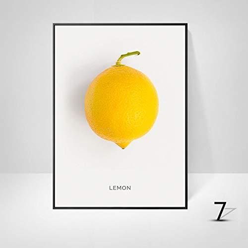 WSNDGWS Moderne minimalistische woonkamer eetkamer fruit decoratie schilderij zonder fotolijst 30x40cm G2