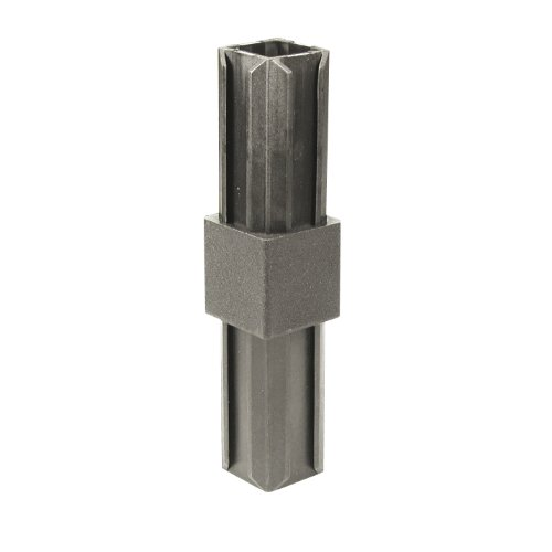 GAH-Alberts 426354 XD-Rohrverbinder - gerade, Kunststoff, schwarz, 20 x 20 x 1,5 mm / 10 Stück