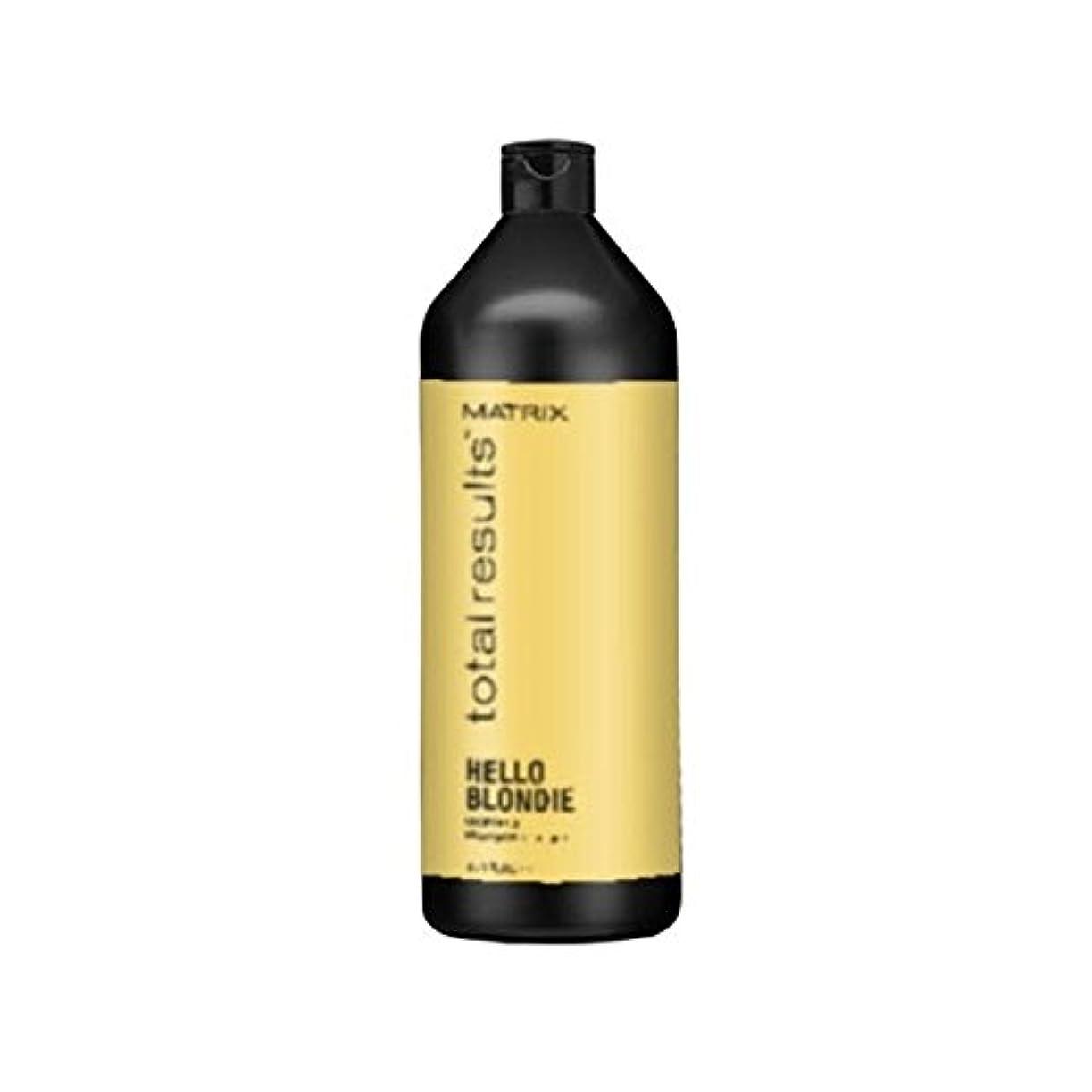 鯨専門知識リア王マトリックスの総結果ハローブロンディシャンプー(千ミリリットル) x4 - Matrix Total Results Hello Blondie Shampoo (1000ml) (Pack of 4) [並行輸入品]