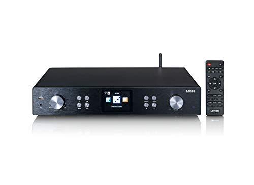 """Lenco DIR-250 Hi-Fi Tuner Baustein - Internetradio mit DAB+ - Bluetooth V5.0 - Spotify Connect - 3,2"""" TFT LCD-Bildschirm - mit Fernbedienung und 2 Antennen - Schwarz"""