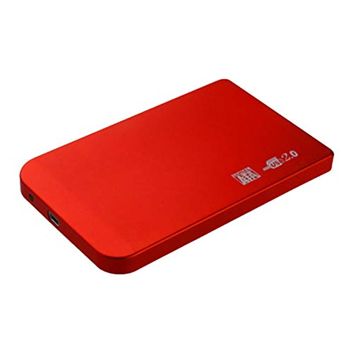 Ssd case, HDD Case 2.5 SATA to USB 3.0/2.0 Hard Drive Enclosure for SSD Disk HDD Box Type C Case Support UASP HD External Hard Disk (Color : Red, Size : 2.0)