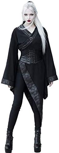 Punk Rave Women s Dark Gothic Punk Asymmetric Cosplay Lolita Kimono Robe Dress Large Black product image