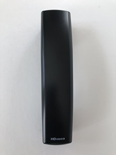 The VoIP Lounge Replacement HD Voice Handset for Polycom VVX Series IP Phone 300 301 310 311 400 401 410 411 500 501 600 601 1500 Black