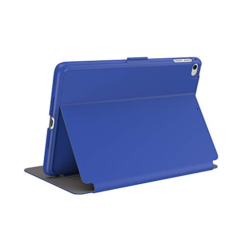 Speck Products BalanceFolio iPad Mini (2019) Case and Stand (Also fits iPad Mini 4), Blueberry Blue Ash Grey (126936-7489)
