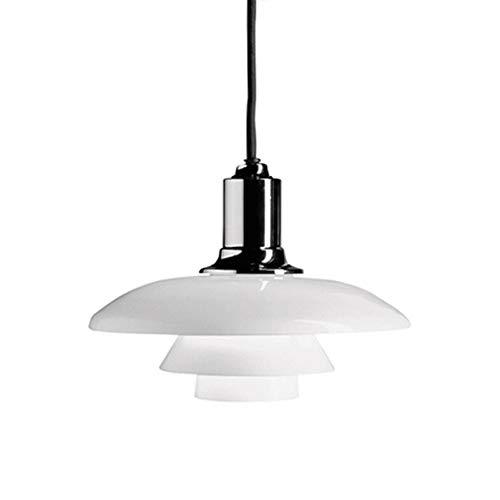 Lámpara de techo moderna Altura creativa Ajustable Ajustable Colgante de Luz Interior E27 Lámpara de enchufe Decoración Luminaria Ronda para mesa de comedor Cocina Restaurante Ø29 * 24cm [Energy Class