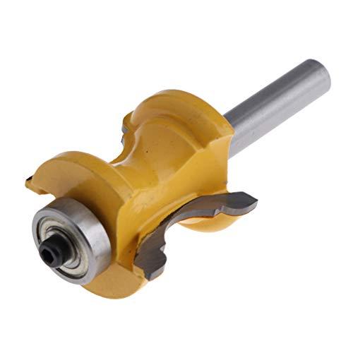 professionelle Holzbearbeitungswerkzeuge Hartmetall-best/ückt 8 x 25,4 mm 8 mm Schaft perfeclan Rundfr/äser Radienfr/äser
