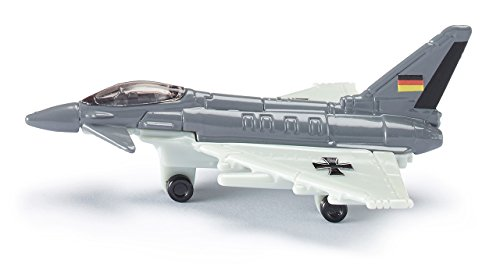 Siku 0873, Kampfjet, Metall/Kunststoff, grau/weiß, Mit Aufkleberbogen