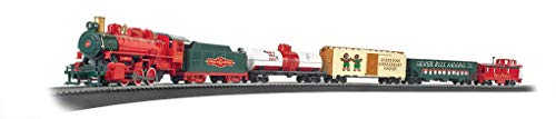 Bachmann Trains - Jingle Bell Express Ready To Run Electric Train Set - HO Scale