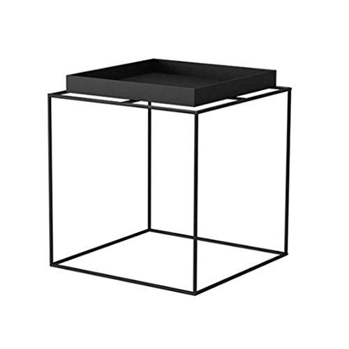Moderna möbler soffbord slutbord järn svart sidobord fyrkantigt soffbord hörnskåp vardagsrum litet soffbord hushållsavläsning mellanmål bord, 505055cm slutbord sidobord nära