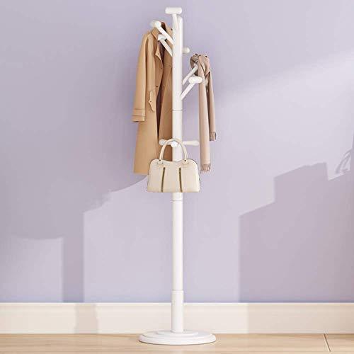 POETRY Massief hout Eenvoudige staande garderobe Moderne slaapkamer Woonkamer kleding Afwerkingsrek Praktische stabiele kapstok vrijstaande kasten (kleur: A)