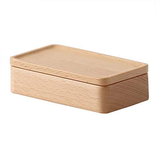 Escritorio multifunción Caja de regalo de madera, estante de almacenamiento de joyería para el hogar Desktopwooden Organizador Cajas de reloj Pendiente de almacenamiento Guardarropa Hombres Mujeres Vi